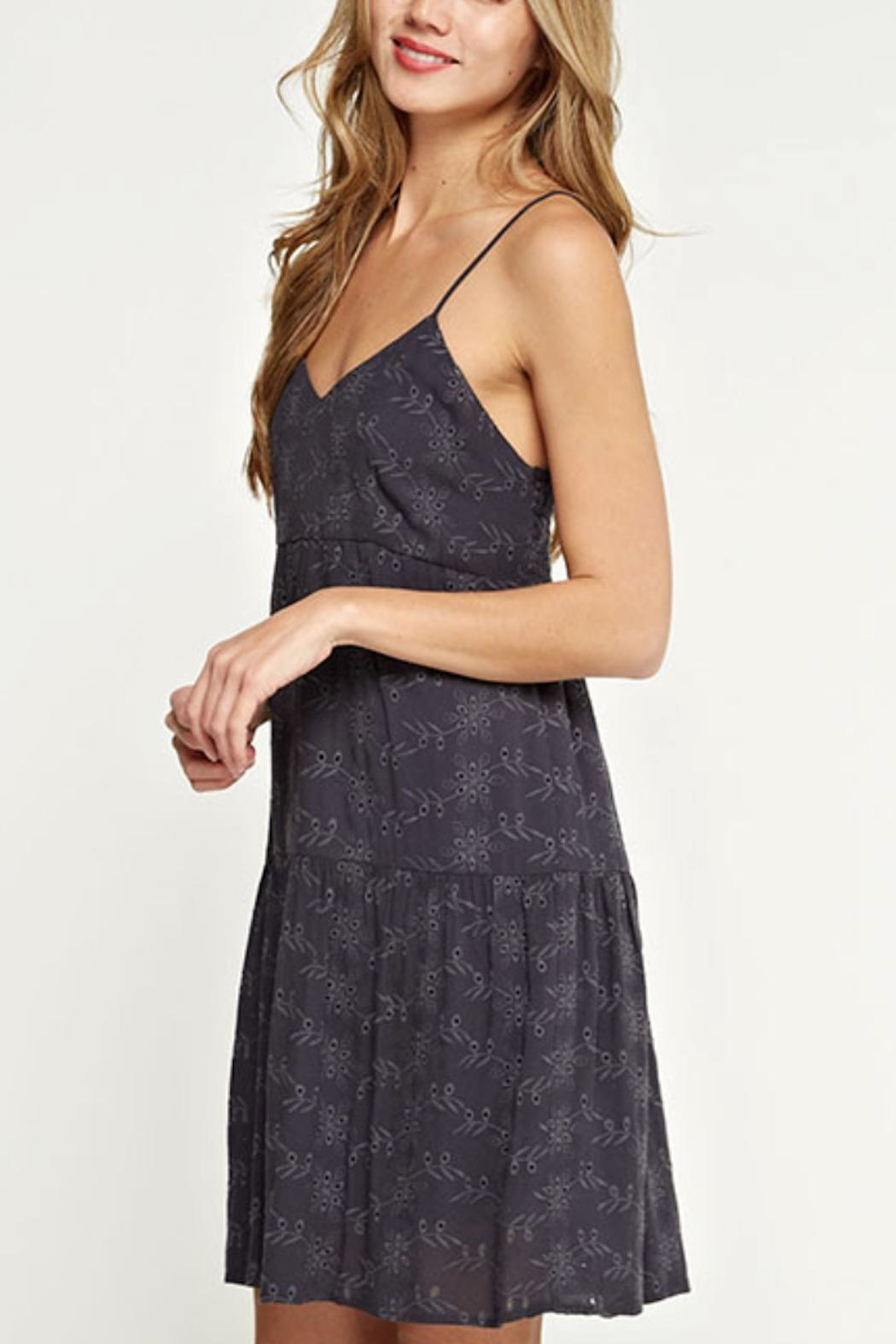Love Stitch Strappy Eyelet Dress - Side Cropped Image