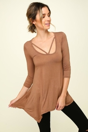 Olivia Pratt Strappy Knit Top - Front cropped