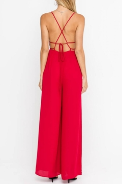 Lush Clothing  Strappy Open-Back Cocktail-Jumpsuit - Alternate List Image