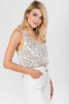 On Twelfth Strappy Sequin Tank - Product List Image