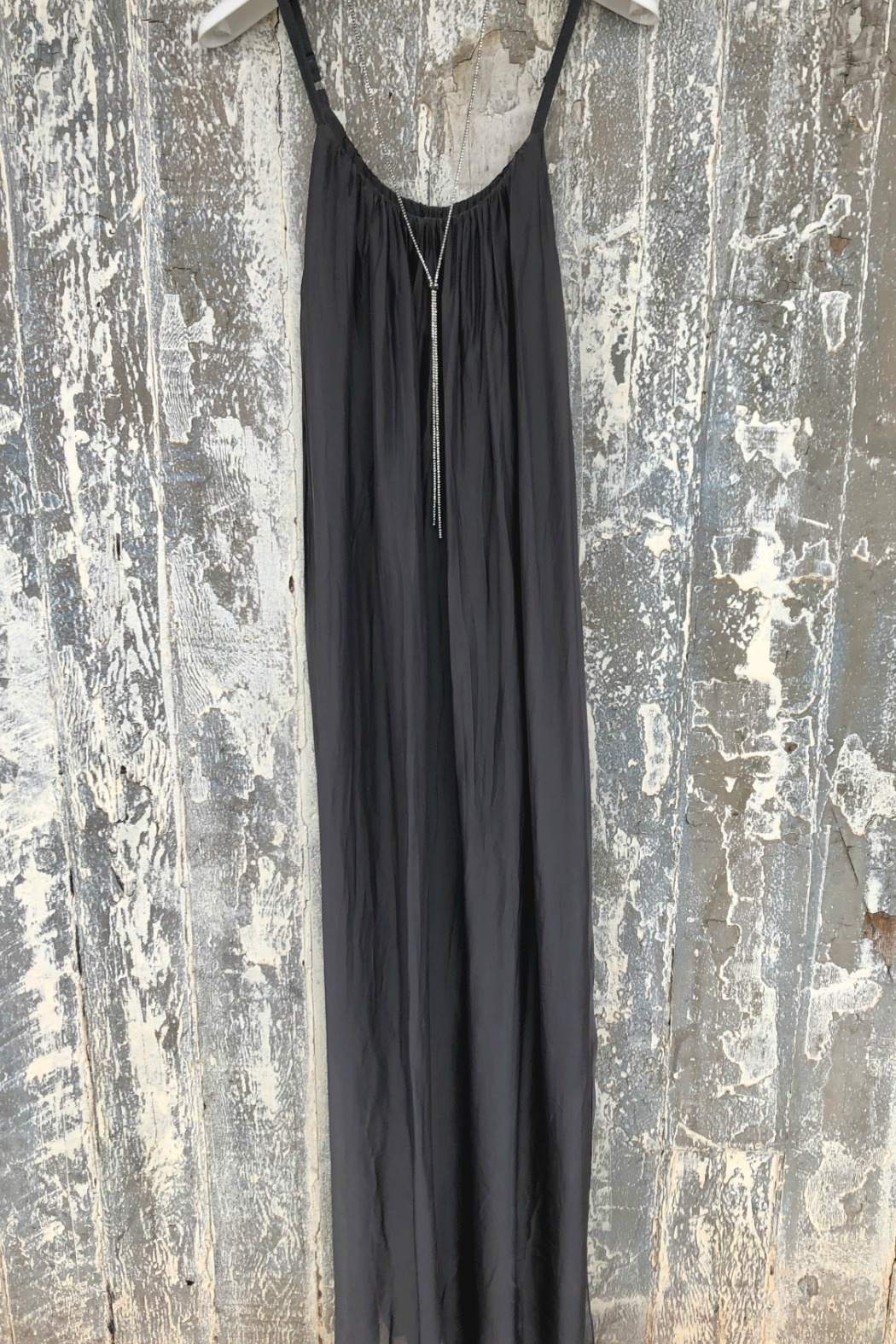 Dance in Paris Strappy Silk Dress - Front Cropped Image