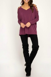 She + Sky Strappy Sleeve Top - Product Mini Image