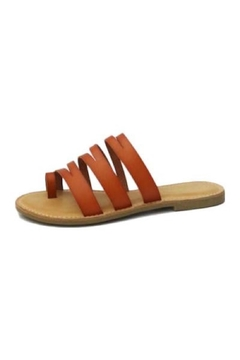 Bamboo Strappy Slide-On Sandals - Alternate List Image
