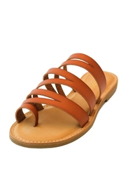 Bamboo Strappy Slide-On Sandals - Product Mini Image