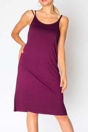 Miss Darlin Strappy Slit Dress - Front full body
