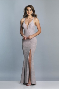 Dave and Johnny Strappy Sparkly Gown - Product List Image