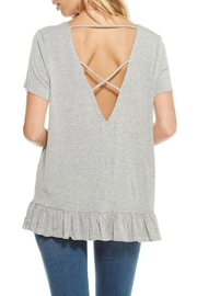 Chaser Strappy Tee with Ruffle Hem - Product Mini Image