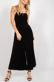 LoveRiche Strappy Velvet Jumpsuit - Product Mini Image
