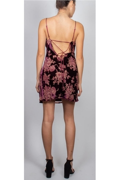 Cotton Candy Strappy Velvet Mini-Dress - Alternate List Image