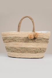 Molly Bracken Straw Beach Bag - Front cropped