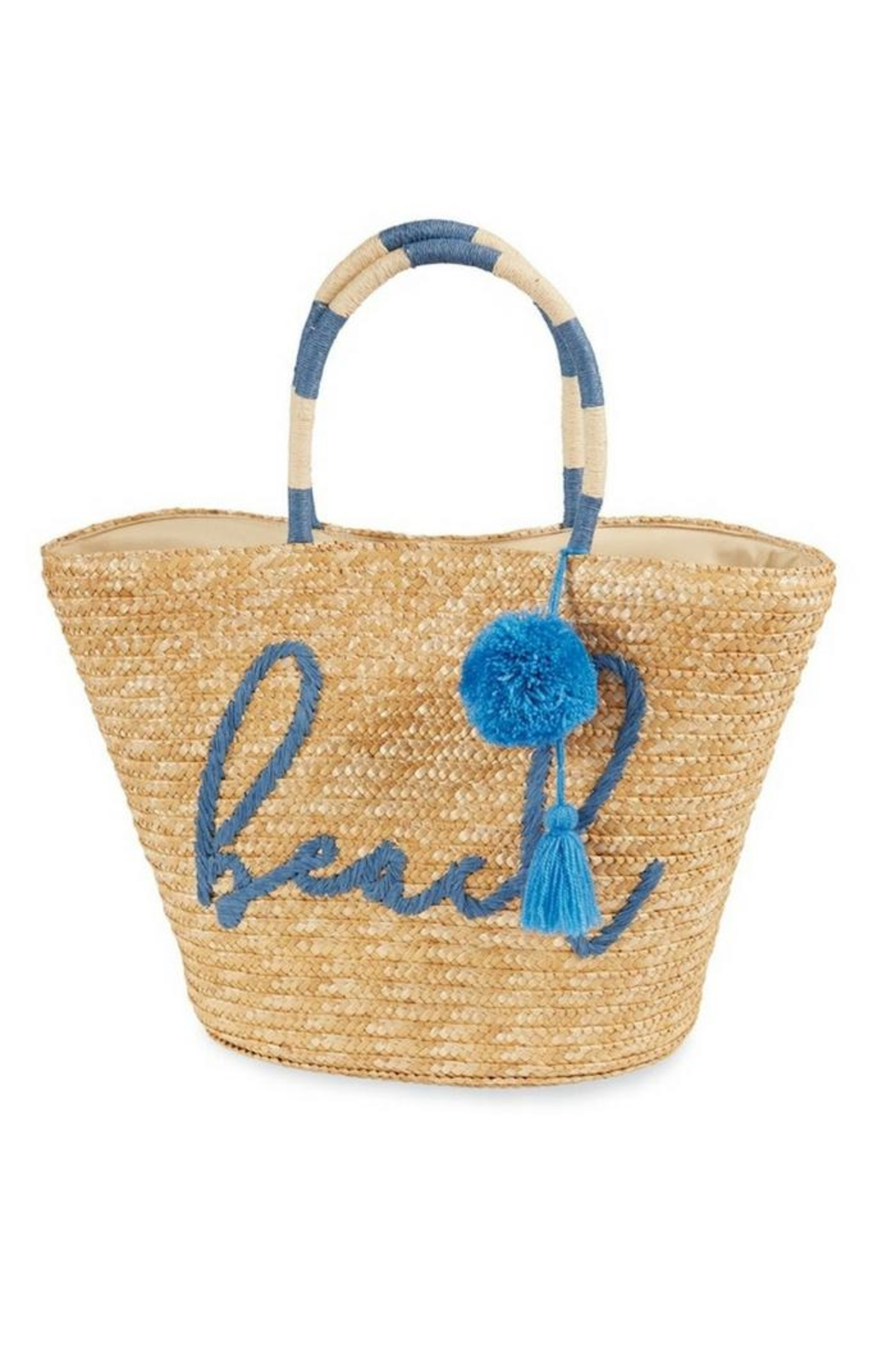 Mud Pie Straw Beach Tote - Front Cropped Image