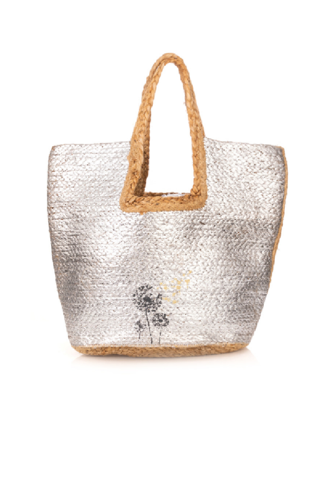 Fame Accessories India Braided Jute Tote - Front Cropped Image