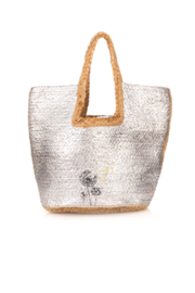 Fame Accessories India Braided Jute Tote - Front cropped
