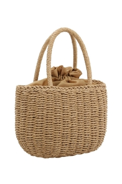 Embellish Straw Bucket Bag - Product List Image