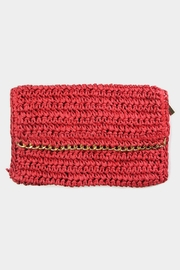 Embellish Straw Chain Clutch - Front cropped