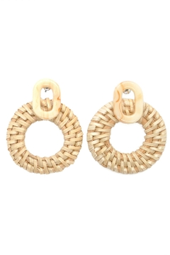 Casa Clara Straw Circle Earrings - Alternate List Image