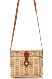 R+D  Straw Crossbody Bag - Front cropped