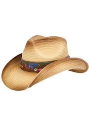 Peter Grimm Straw Drifter Hat - Front cropped