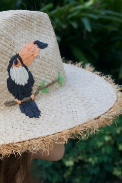Echo Straw embroidered toucan hat - Alternate List Image