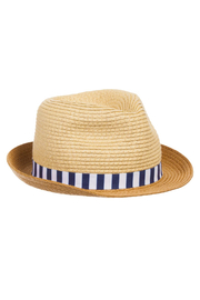 Mayoral Straw Fedora Hat - Front cropped