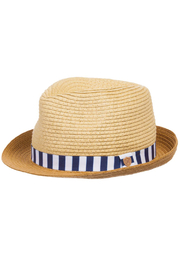 Mayoral Straw Fedora Hat - Front full body