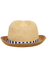 Mayoral Straw Fedora Hat - Back cropped