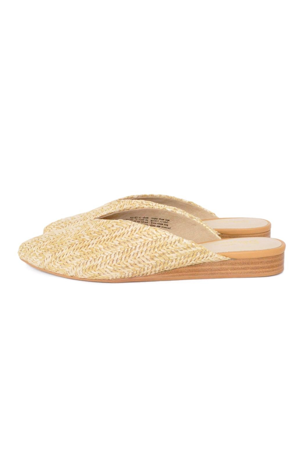 Seychelles Straw Flat Mules - Front Cropped Image