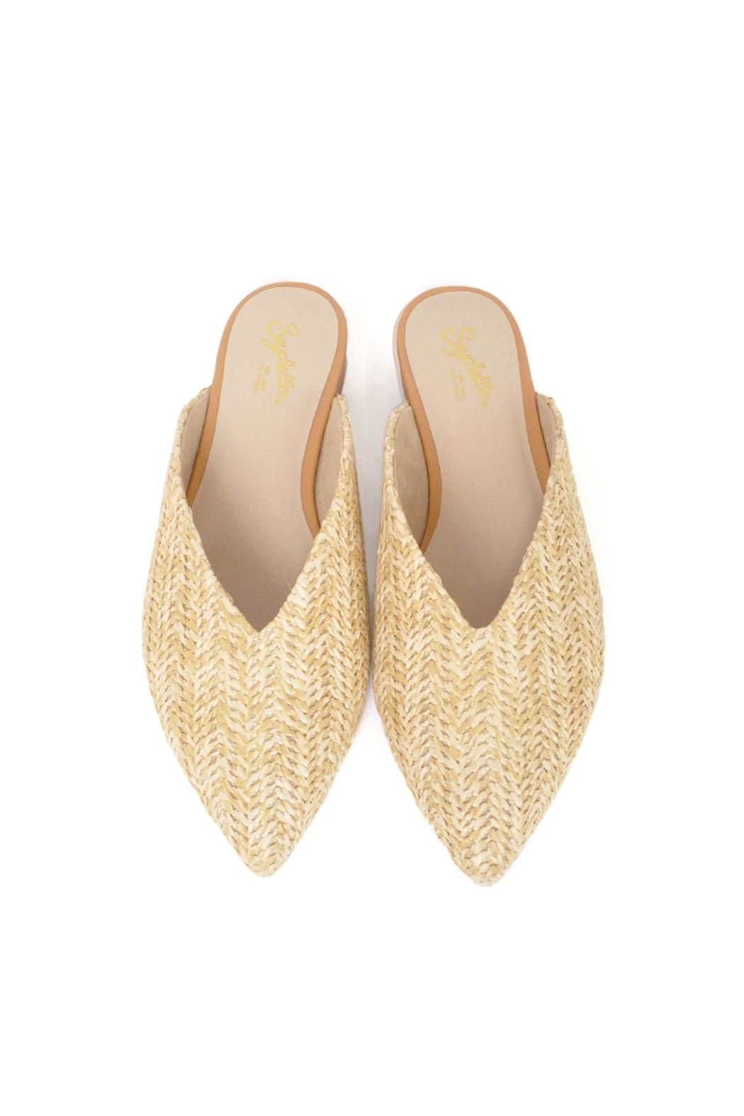 Seychelles Straw Flat Mules - Side Cropped Image