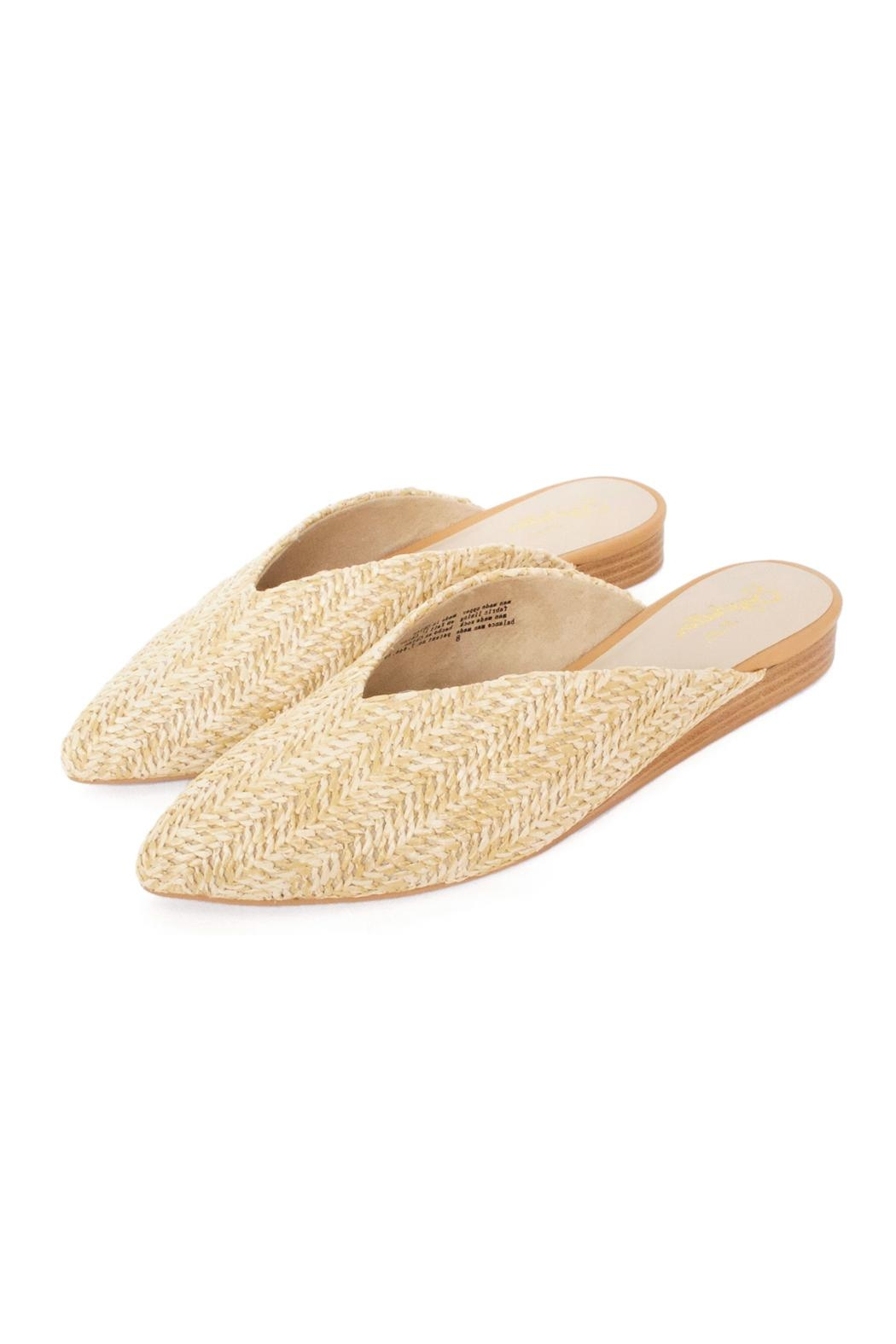 Seychelles Straw Flat Mules - Front Full Image