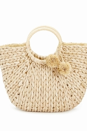 Two's Company Straw Handbag - Front cropped