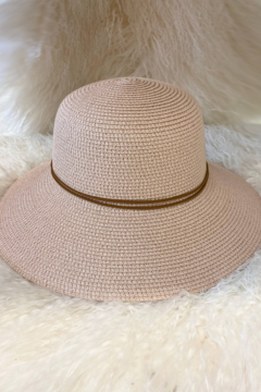 Ellison Classic Straw Hat with Tie Trim - Product List Image