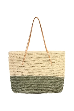 Shoptiques Product: Straw Leather Tote