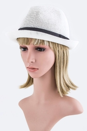 Nadya's Closet Straw Mesh Fedora - Product Mini Image