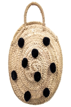 Tartine et Chocolat Straw Pom-Pom Bag - Product List Image