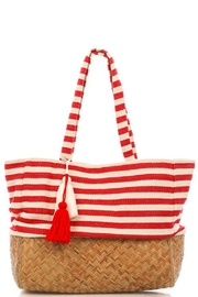 Imagine That Straw Striped Bag - Product Mini Image