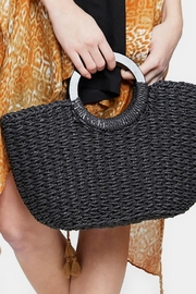 Embellish Straw Tote Bag - Front cropped