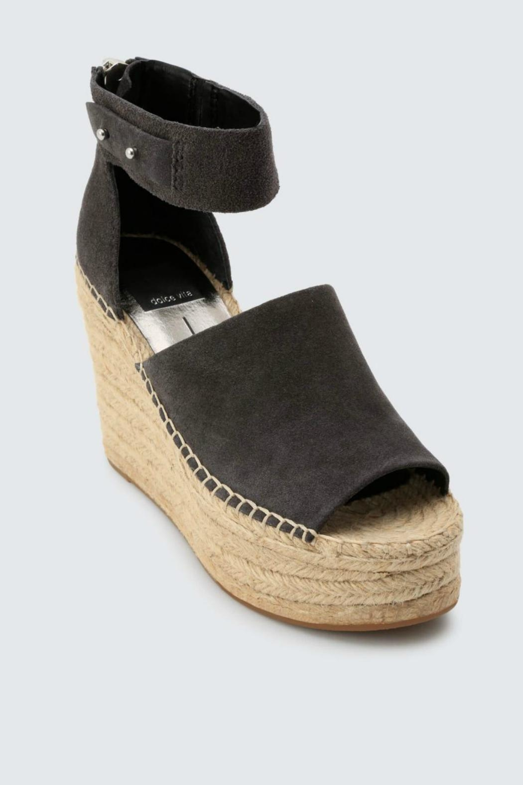 Dolce Vita Anthracite Suede Wedge - Front Full Image
