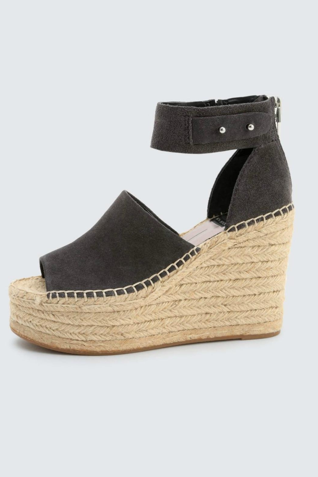 Dolce Vita Anthracite Suede Wedge - Front Cropped Image