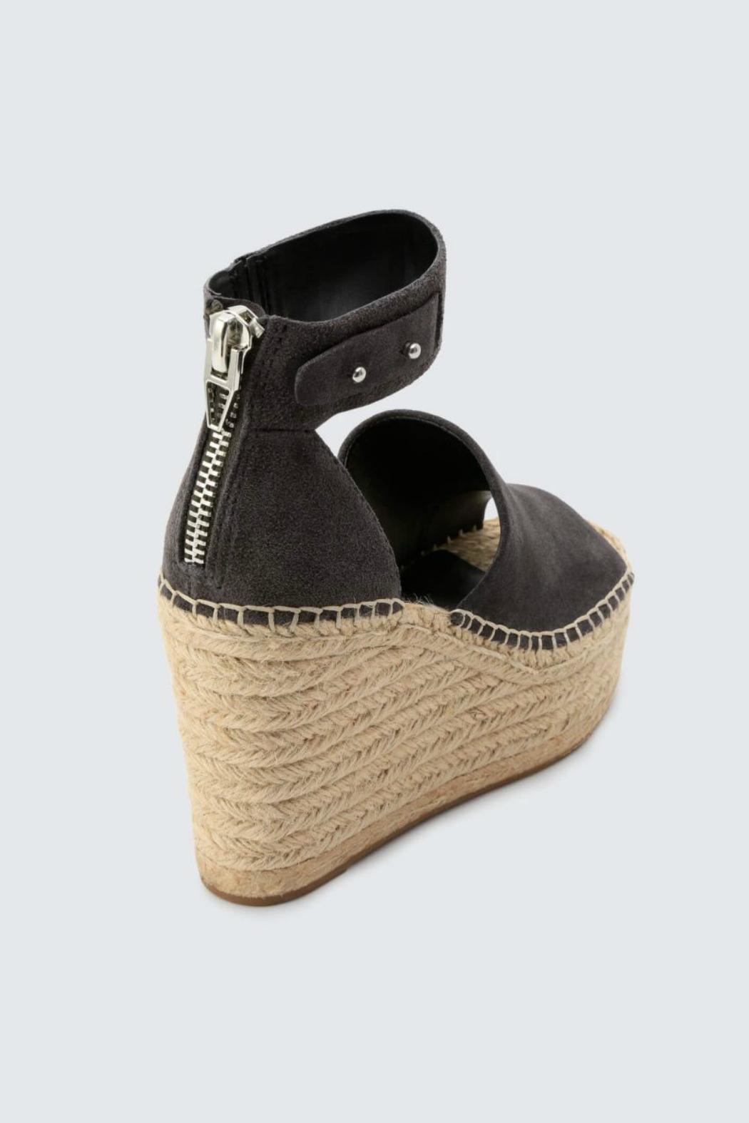 Dolce Vita Anthracite Suede Wedge - Side Cropped Image