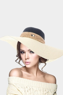Chloe Straw Wide-Brim Hat - Alternate List Image