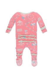 Kickee Pants Strawberry Carnival Footie - Front full body