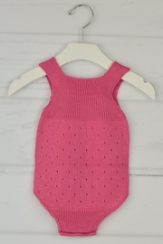 Granlei 1980 Strawberry Knitted Onesie - Front full body