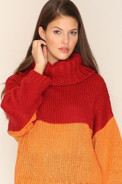 Shoptiques Product: Strawberry Orange Sweater