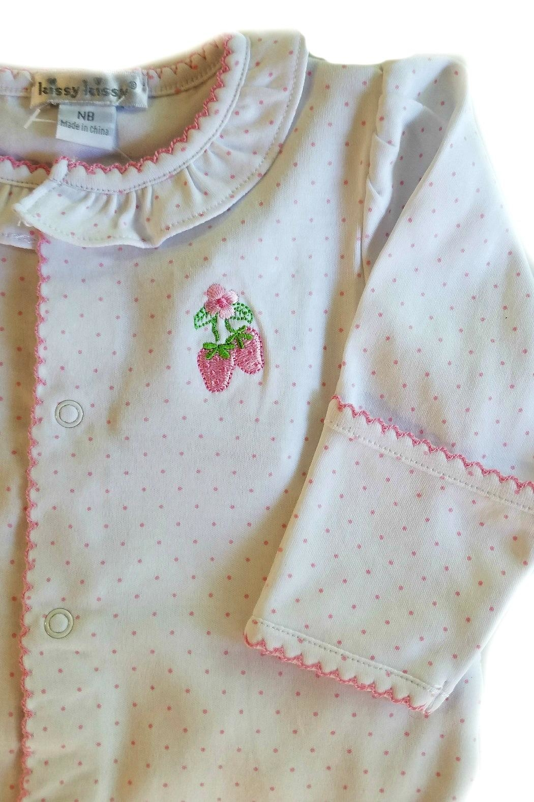 Kissy Kissy Strawberry Patch Footie - Side Cropped Image