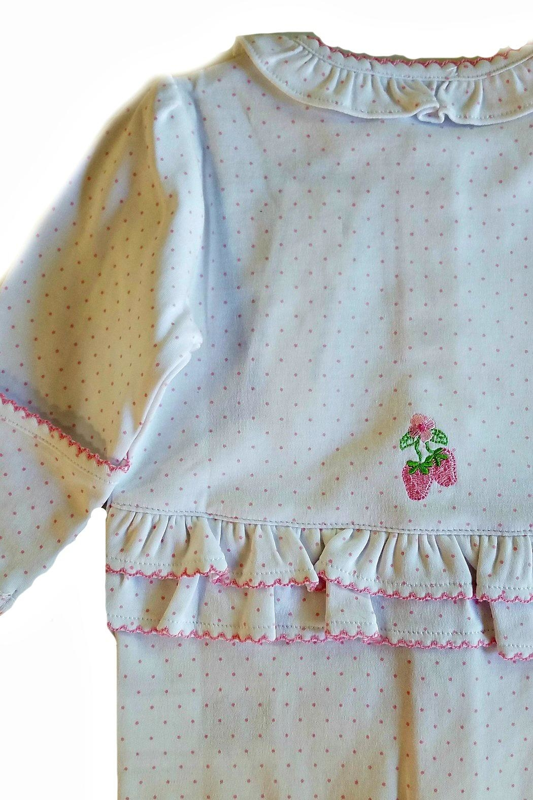 Kissy Kissy Strawberry Patch Footie - Front Full Image
