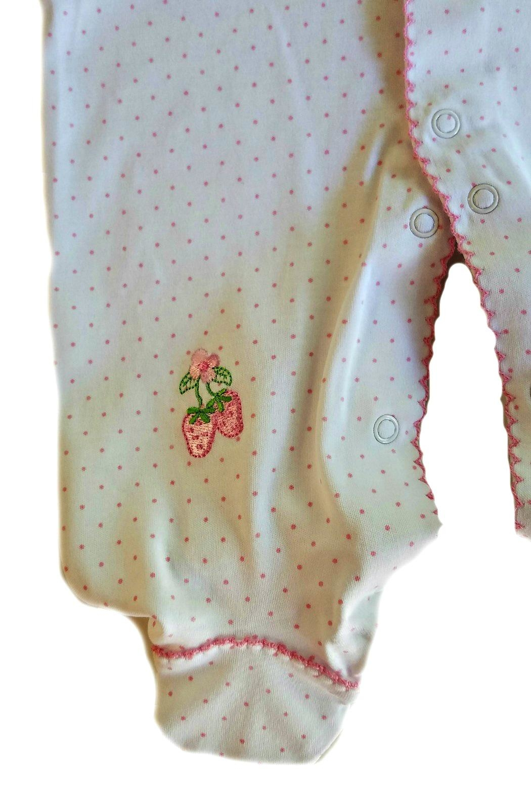 Kissy Kissy Strawberry Patch Footie - Back Cropped Image