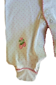 Kissy Kissy Strawberry Patch Footie - Back cropped