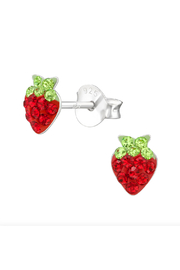 Silver Jewels Strawberry Silver Stud Earrings - Product Mini Image