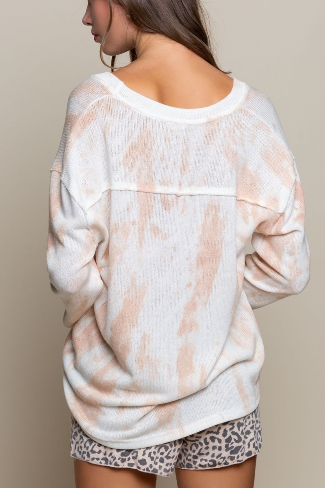 Pol Clothing Strawberry Tie-Dye Pullover - Front Full Image
