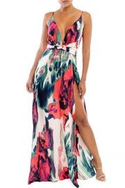 luxxel Streaks Front-Slit Dress - Product Mini Image